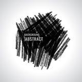 Vektorschmutz watercolor Anstrich schwarzes Abstrakte Beschaffenheit Auf stock abbildung
