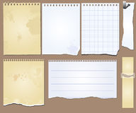 VektorSchmutzeinklebebuchelement-Tablettepapier Stockfoto