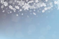 Vektorschneeflocke Weihnachtshintergrund Lizenzfreie Stockfotografie