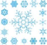 Vektorschneeflocken Stockbilder