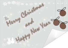 Vektorschneeflocken für Weihnachtskarte Stockbild