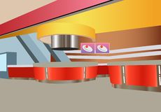 Vektorschnellimbißinnenraum Stockbild