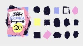 Vektorschwarzfarbe, Tinte, schmutzige Beschaffenheit des Schmutzes Handgezogenes künstlerisches Gestaltungselement, -kasten, -rah lizenzfreie abbildung