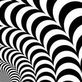 Vektorschwarzweiss-Hintergrund mit optischer Täuschung des Volumens Lizenzfreies Stockbild
