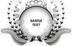 Vektorschwarzweiss-Rosette Lizenzfreies Stockfoto