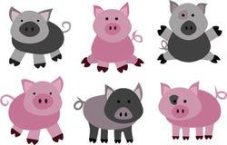 Vektorschweine und -eber Lizenzfreies Stockbild