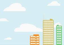 Vektorscyscrapersbakgrund. royaltyfri illustrationer