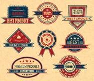 Vektorset av etiketter Royaltyfri Bild