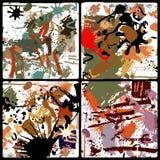 Vektorset av färgstänk Arkivbilder