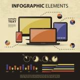 Vektorset av infographic element vektor illustrationer