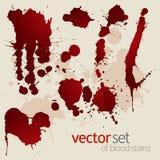 Vektorset av splattered blodfläckar Arkivbild