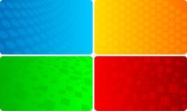Vektorset der abstrakten Schablone Lizenzfreies Stockbild