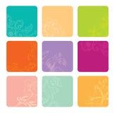 Vektorset Farbenfahnen Stockbilder