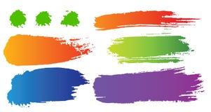 Vektorset Farbenflecken Stockbild