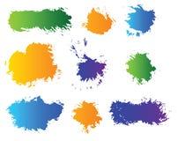 Vektorset Farbenflecken Lizenzfreie Stockfotos