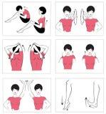 Vektorset körperliche Übungen Stockfotos