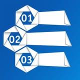 Vektorset origami Papierfahnen. Lizenzfreie Stockfotografie