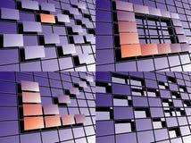 Vektorset Technologiehintergründe. Lizenzfreie Stockbilder