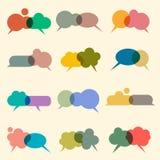 Vektorset verschiedene Luftblasen für Rede Lizenzfreie Stockfotos