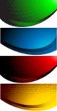Vektorset von vier abstrakten Fahnen stock abbildung