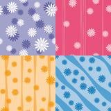 Vektorset von vier bunten nahtlosen Mustern stock abbildung