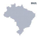 Vektorsexhörningsöversikt av Brasilien på en vit bakgrund stock illustrationer
