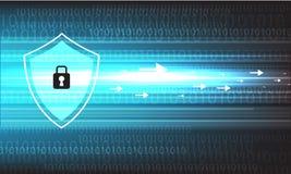 Vektorsicherheitsdesign auf blauem Hintergrund Lizenzfreie Stockfotografie