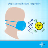 Vektorsicherheitsmaske schützen Virusgesundheitswesenkonzept Stockbilder