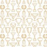 Vektorsiegercup Nahtloses Muster Stockbilder