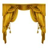Vektorsilke, scenisk gardin för sammet med veck, förhänge Taget i Genua, Italien Stort begrepp för presentationen, show stock illustrationer