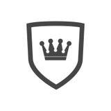 Vektorsköldsymbol med kronan Fotografering för Bildbyråer