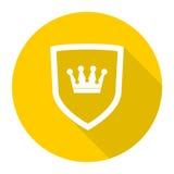 Vektorsköldsymbol med kronan Arkivbilder