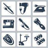 Vektorskönhet- och plaggomsorganordningar stock illustrationer