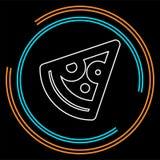 Vektorskiva av pizza - snabb italiensk matsymbol royaltyfri illustrationer