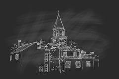 Vektorskizze der Architektur von Zadar lizenzfreie abbildung