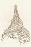 Vektorskizze von Eifel-Turm lizenzfreie abbildung