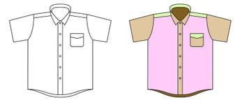 Vektorskjorta Arkivfoto