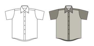 Vektorskjorta Fotografering för Bildbyråer