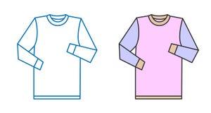 Vektorskjorta Arkivfoton