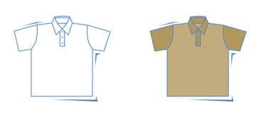 Vektorskjorta Royaltyfria Bilder