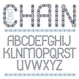 Vektorskrift, modern alfabetbokstavsuppsättning Huvudidérik fon stock illustrationer