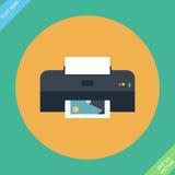 Vektorskrivare Icon - vektorillustration Arkivfoto