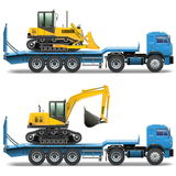 Vektorsläp med traktoren Arkivfoto