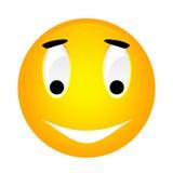 Vektorsmiley-Gelb Emoticon. Lizenzfreie Stockfotos