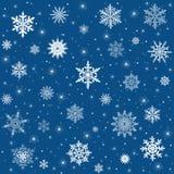 Vektorsnowflakebakgrund Royaltyfri Bild