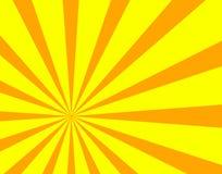 Vektorsolen strålar bakgrund, ljust orange och gult färgrikt solsken royaltyfri illustrationer