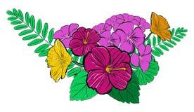 Vektorsommer blüht Blumenstrauß Stockbild