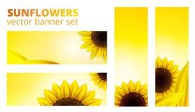 Vektorsonnenblumenfahne Lizenzfreie Stockfotos
