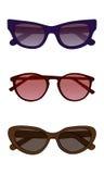 Vektorsonnenbrille mit farbigem Glas Stockfotografie