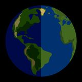 Vektorsonnensystem-Planet Erde Stockfotografie
